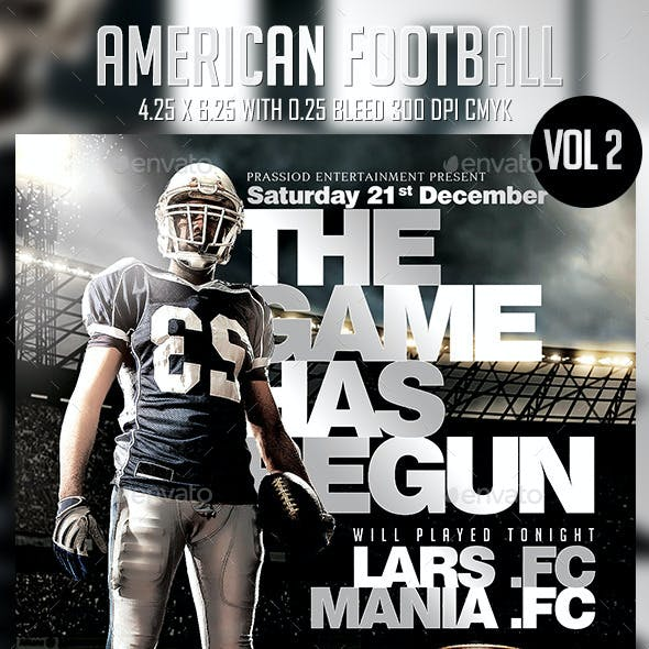 American Football Flyer Template Vol 2