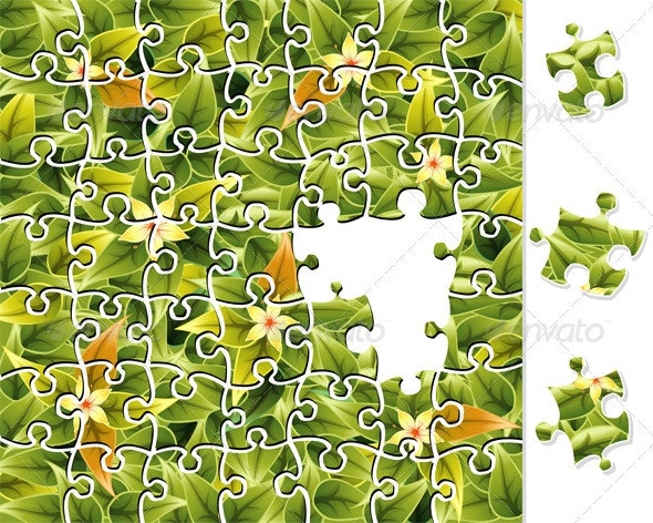 Jigsaw Puzzle Flower Pattern - Flowers & Plants Nature