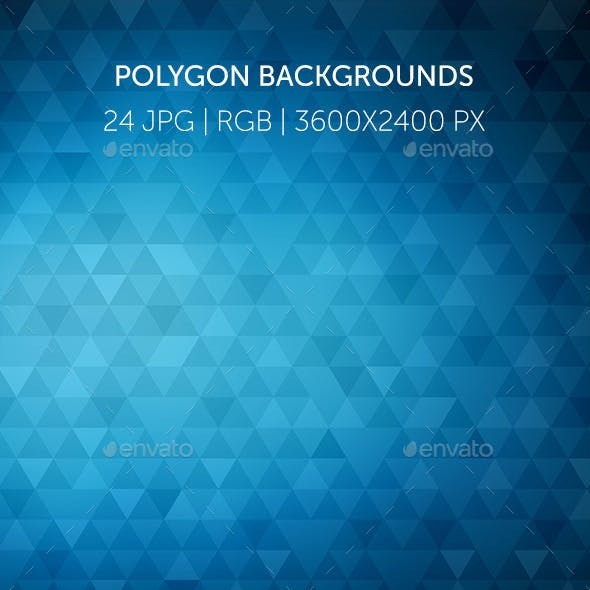 24 Triangle Polygon Backgroungs