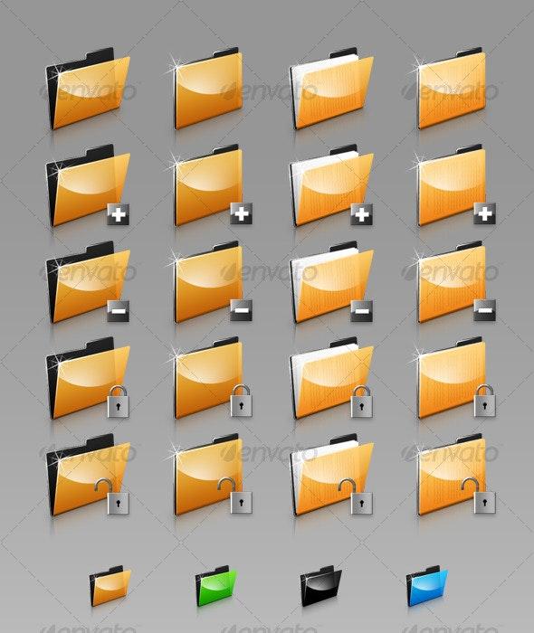 Folders Set - Web Icons