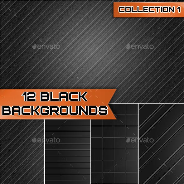 12 Black Backgrounds Collection 1