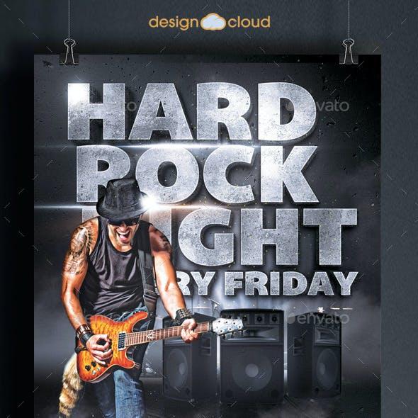 Hard Rock Night Flyer Template