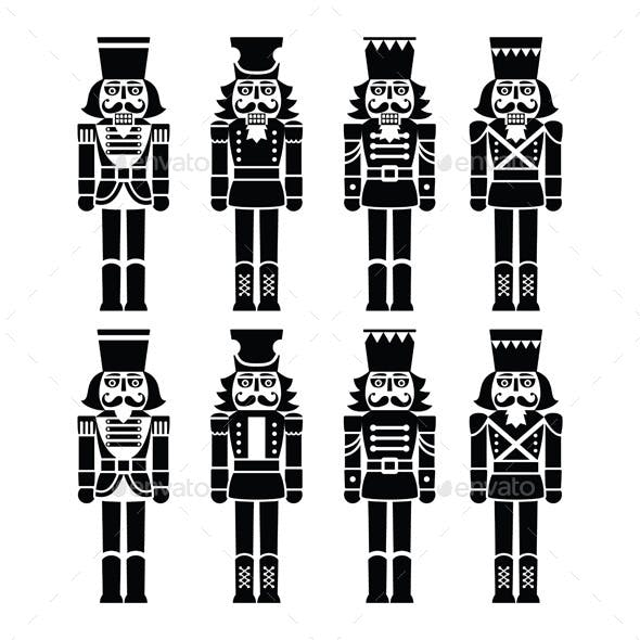 Christmas Nutcracker Soldier Figurines