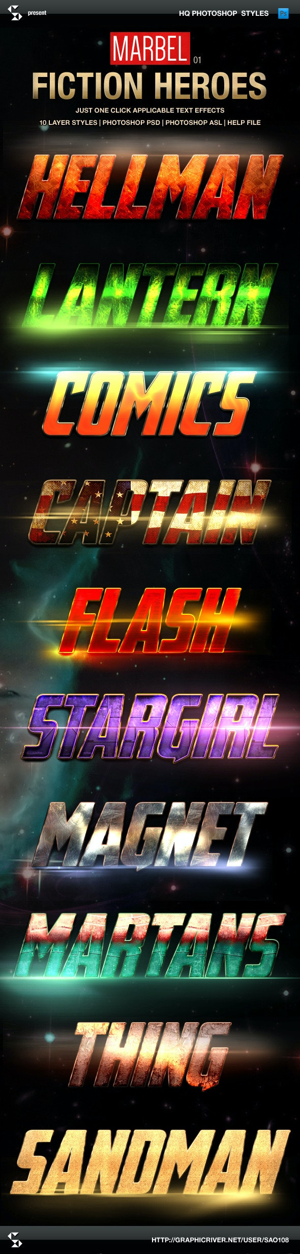 Blockbuster Heroes Style Text Effects 01 - Text Effects Styles