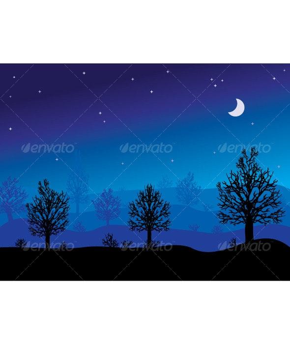 Night Trees - Nature Conceptual