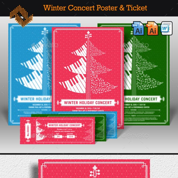 Winter Holiday Concert Flyer & Ticket