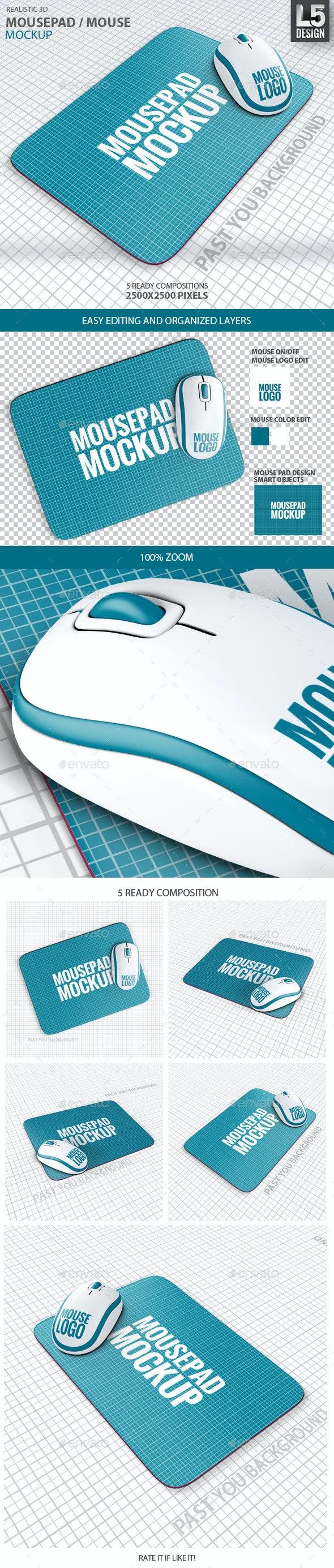Mousepad / Mouse Mock-up - Miscellaneous Print