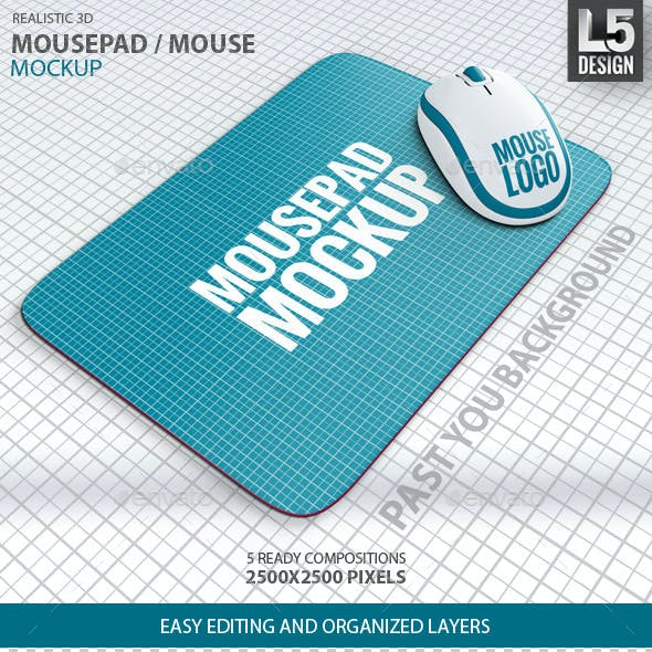 Mousepad / Mouse Mock-up