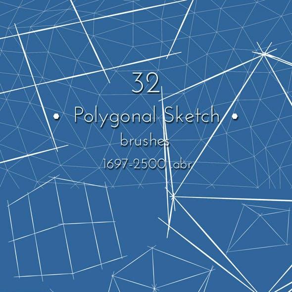 Polygonal Photoshop Brushes