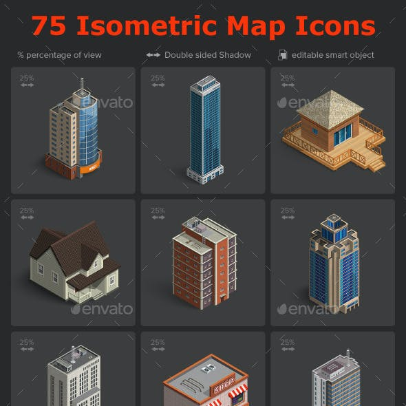 Isometric Map Icons Vol.01
