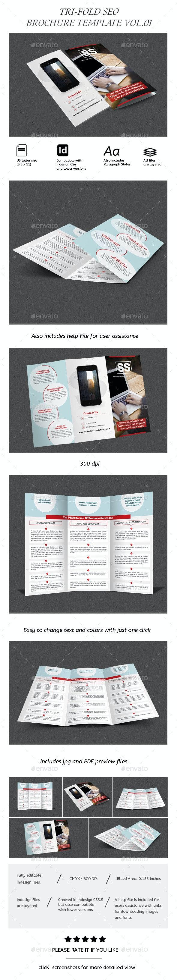 Business Trifold Brochure Vol-III - Corporate Brochures