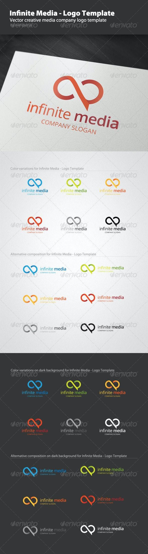 Infinite Media - Logo Template - Vector Abstract