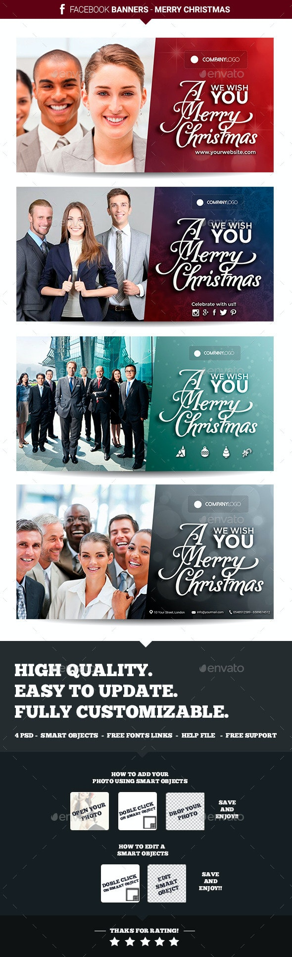 Facebook Banners - Christmas - Banners & Ads Web Elements