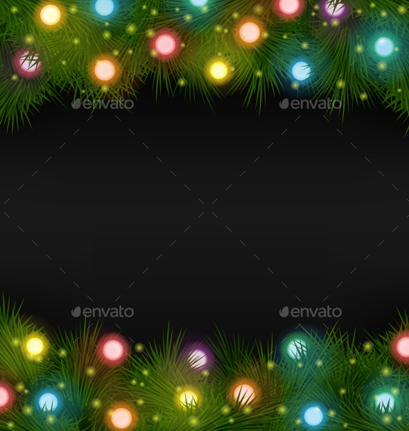 Christmas Lights - Backgrounds Decorative