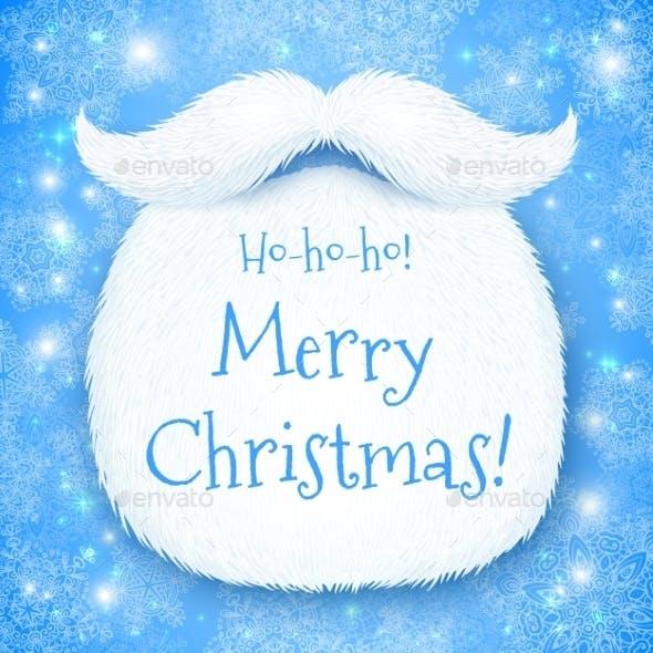 Santa's Beard with Merry Christmas