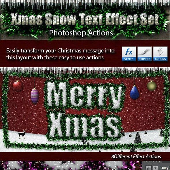 Xmas Snow Text Effect Set