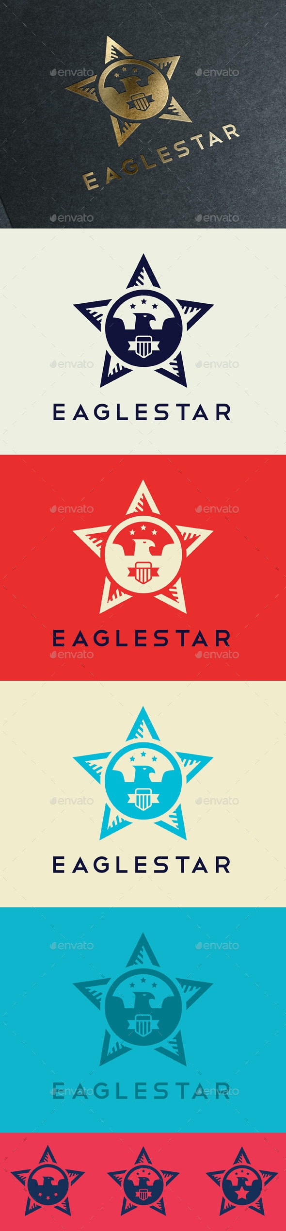 Star Eagle - Animals Logo Templates
