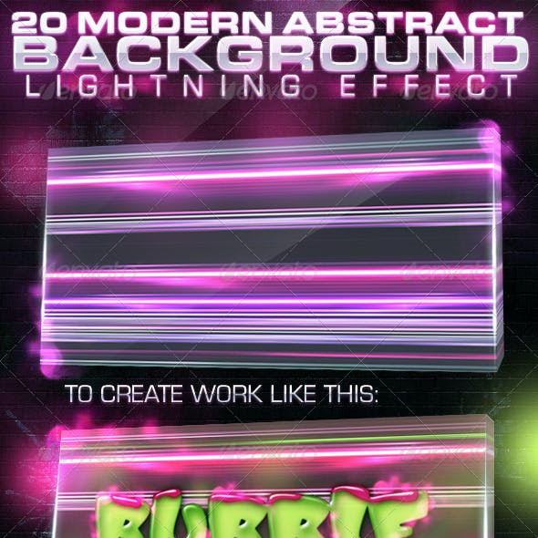 20 Abstract Background Lightning Effect