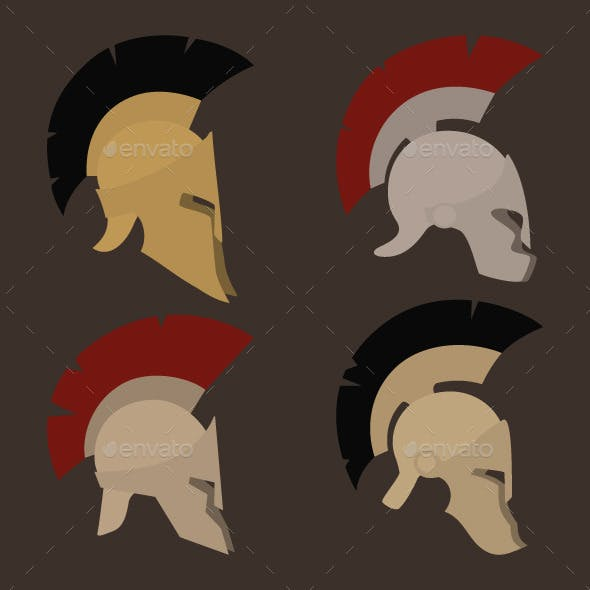 Four Antique Helmets