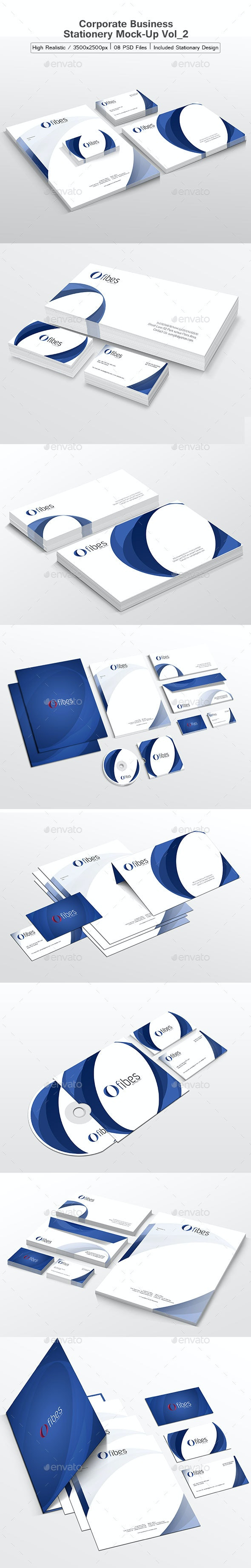 Corporate/Business Stationery Mock-Up Vol_2 - Stationery Print
