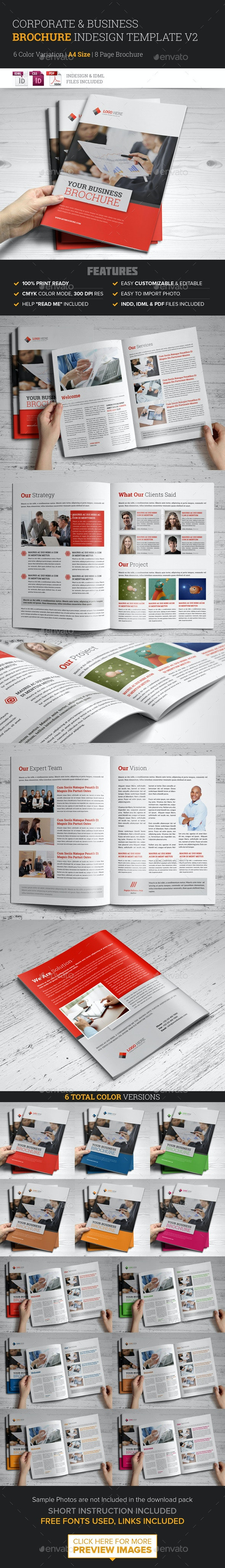 Corporate Multipurpose Brochure InDesign Template v2 - Corporate Brochures
