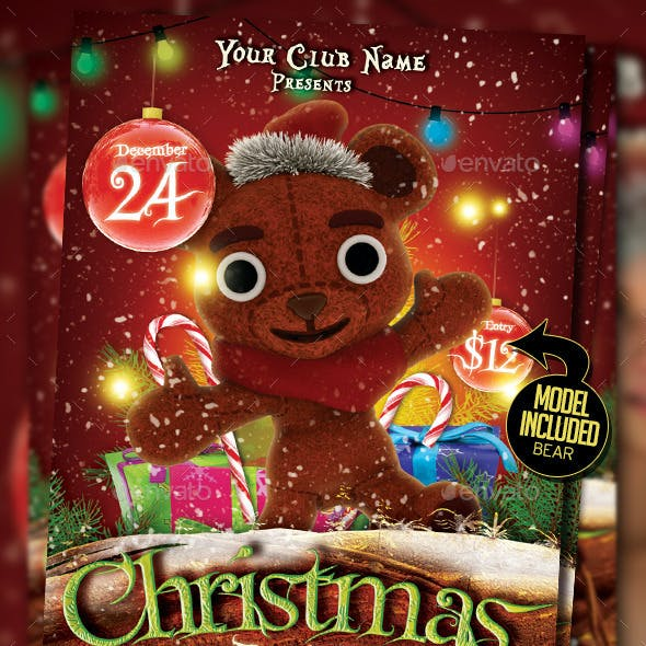 Christmas Kids Party Flyer Template