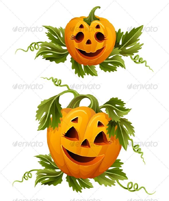 Halloween pumpkins - Decorative Symbols Decorative
