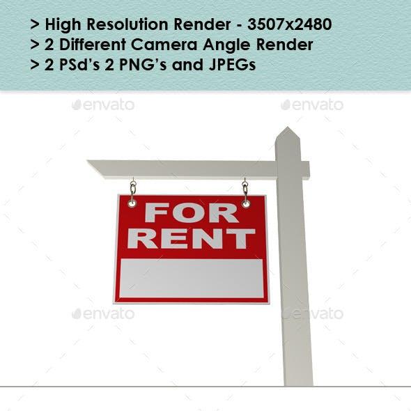 Real Estate Rent Sign