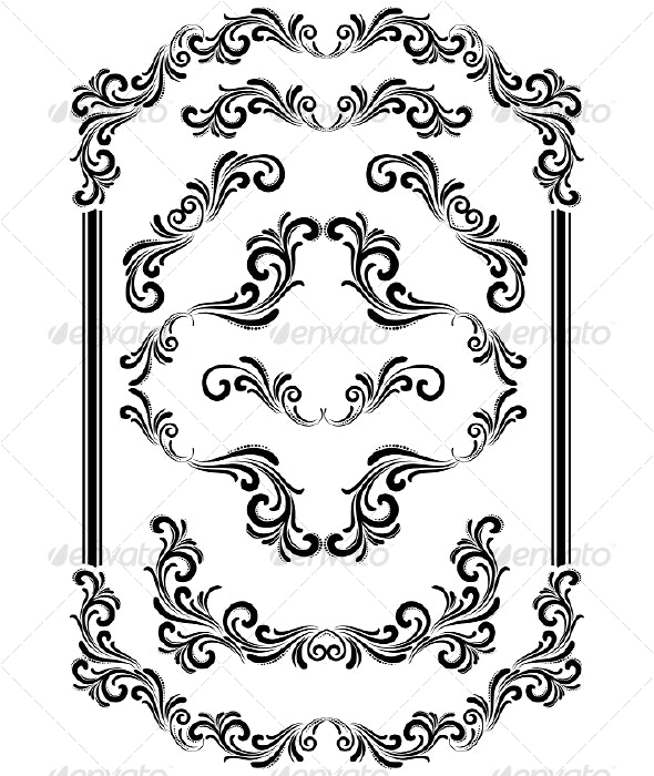 Vector design elements - Borders Decorative