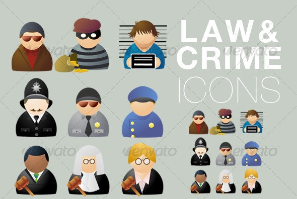 Law & Crime icons - People Characters