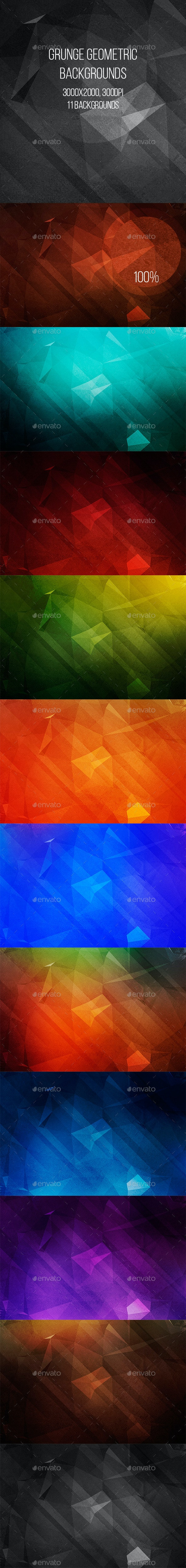 Grunge Geometric Backgrounds - Abstract Backgrounds