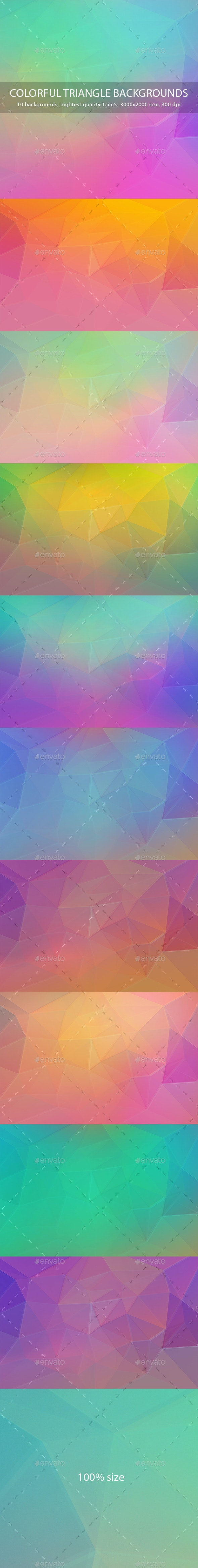 Colorful Triangle Backgrounds - Abstract Backgrounds