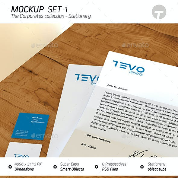 Stationary Mockup (Corporates Collection) - Set 1