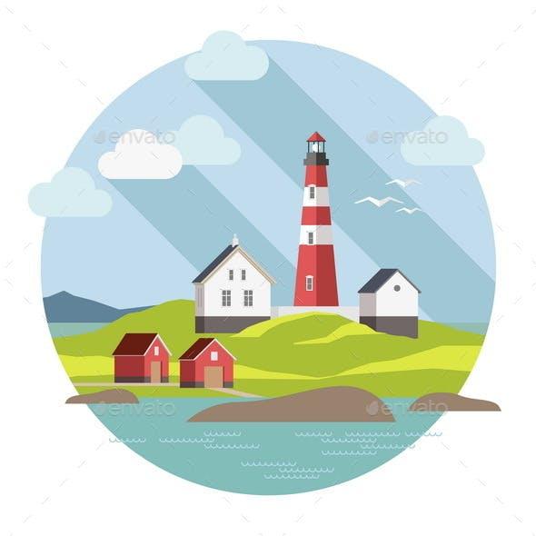 Lighthouse on the Landscape