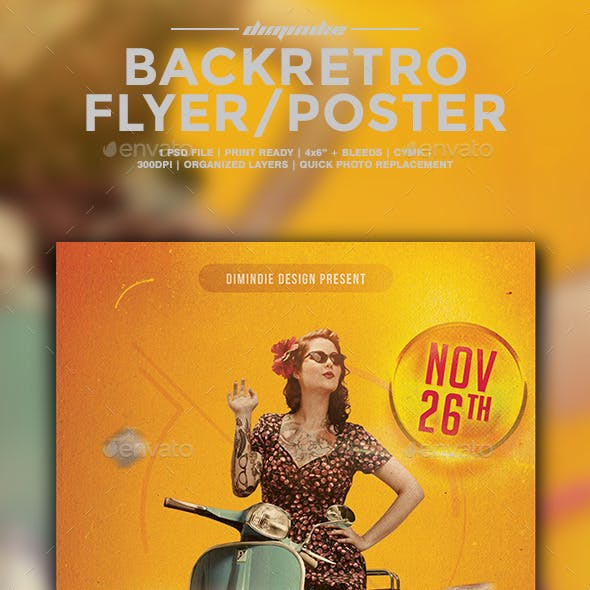 Back To Retro Flyer Template