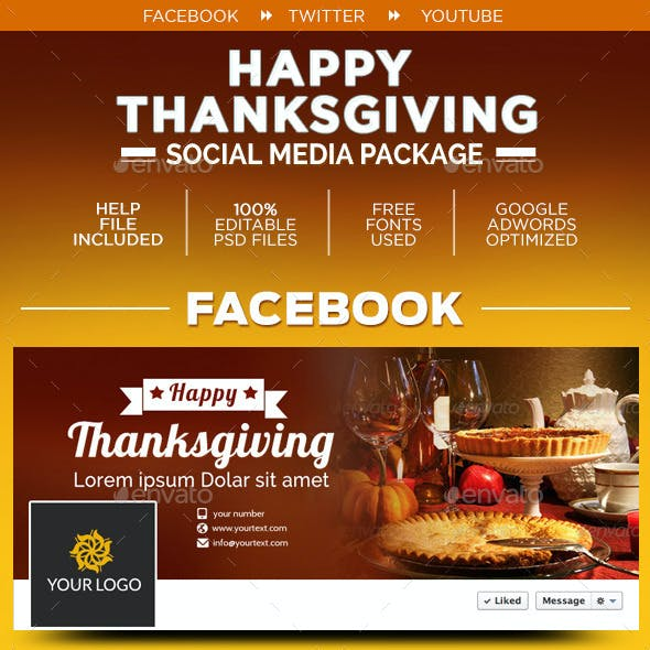 Thanksgiving Social Media Graphic Pack