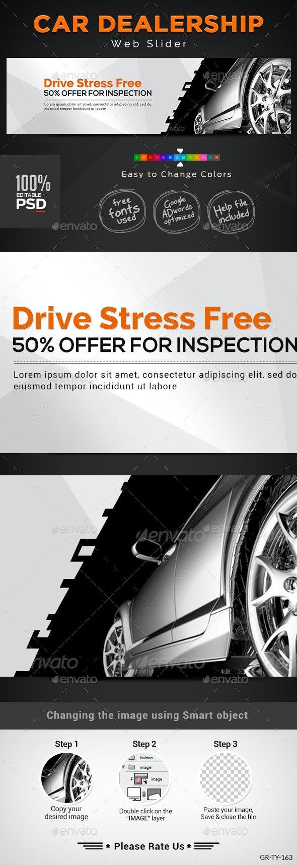 Car Dealership Slider - Sliders & Features Web Elements