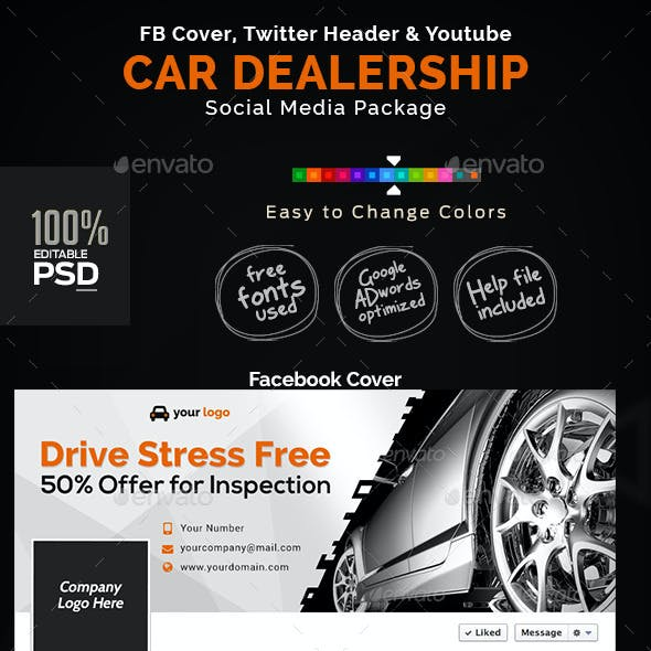 Car Dealership Social Media Graphic Pack