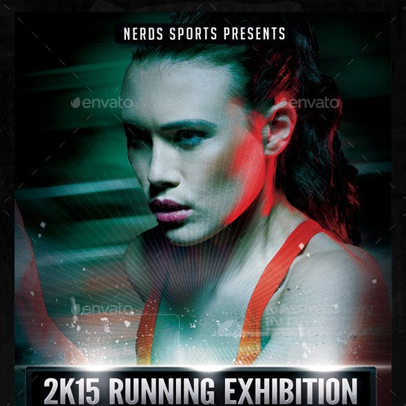 2K15 Marathon Exhibition Sport Flyer
