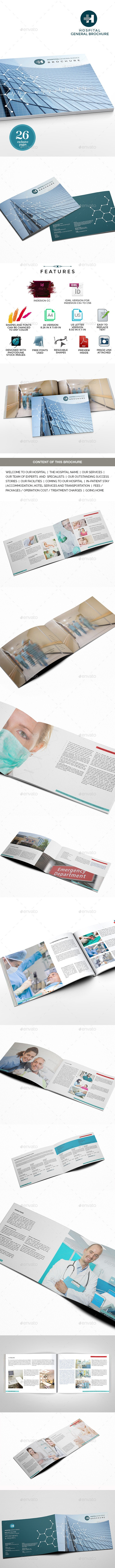 Hospitals Landscape General Brochure Template  - Corporate Brochures