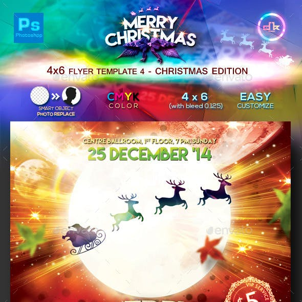 Christmas Flyer Template 4 (4x6)