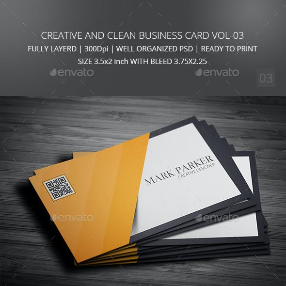 Creative and Clean Business Cart Vol-03