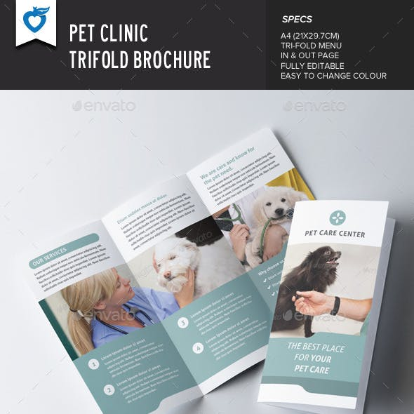 Pet Clinic Trifold Brochure