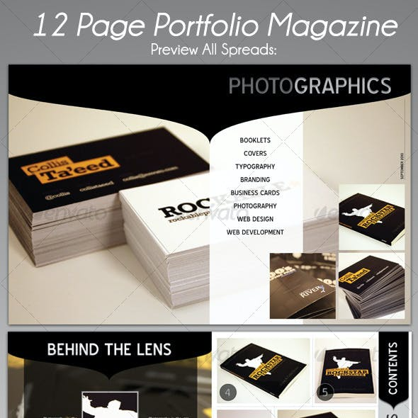 12 Page Portfolio Magazine Kit