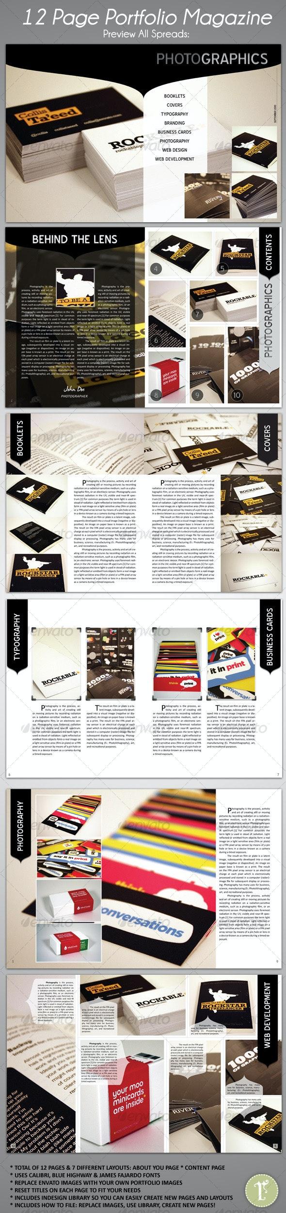 12 Page Portfolio Magazine Kit - Magazines Print Templates