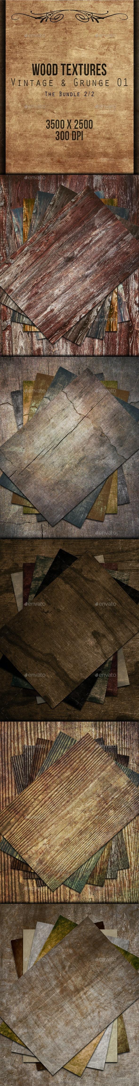Wood Textures Bundle - Vintage & Grunge 02 - Wood Textures