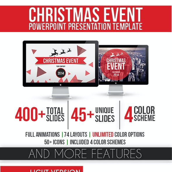 Christmas Event PowerPoint Template