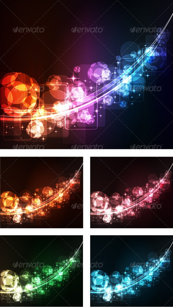 Abstract background with glowing spheres - Web Technology