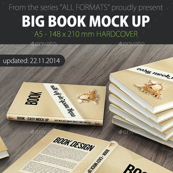 Book Mock Up - A5 Hard Cover