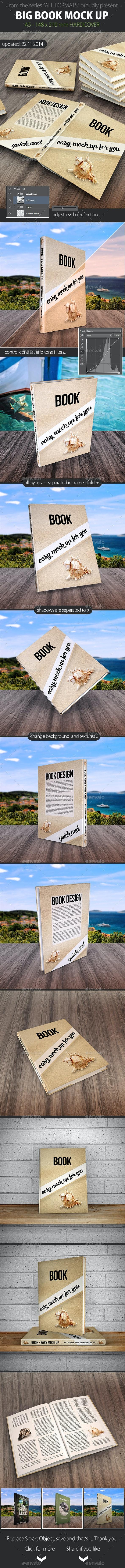 Book Mock Up - A5 Hard Cover - Books Print